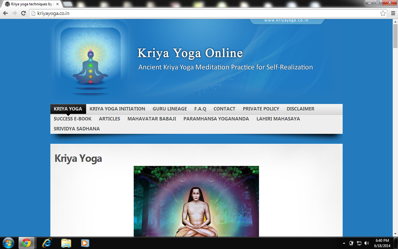 kriya yoga Kriya yoga (क्रिया योग) is described by its practitioners as the ancient yoga  system revived in modern times by mahavatar babaji through his disciple lahiri.